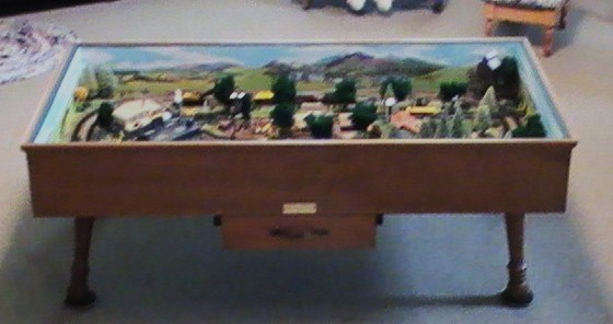 N Gauge Coffee Table Railroad Built 1983 003