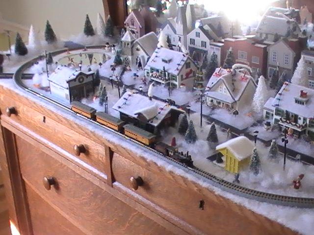 coffee table n-gauge railroad, & n-gauge christmas layouts